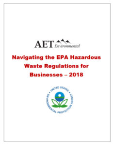 Navigating the EPA Hazardous Waste Regulations for Business 2018